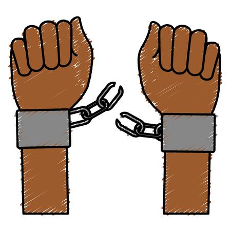 handcuff 벡터 일러스트 디자인으로 손 인간