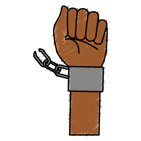 arrested criminal: hand human with handcuff vector illustration design