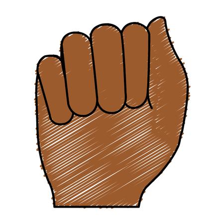 Mano de puño humano icono de diseño de ilustración vectorial Foto de archivo - 80353732