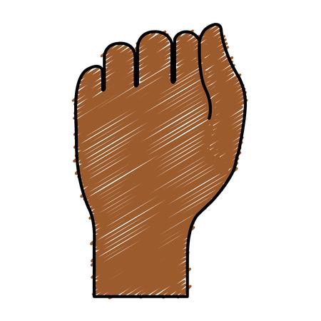 Hand menschliche Faust Icon Vektor-Illustration Design Vektorgrafik