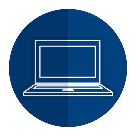 ラップトップ コンピューターのアイコン ベクトル イラスト デザインを分離しました。