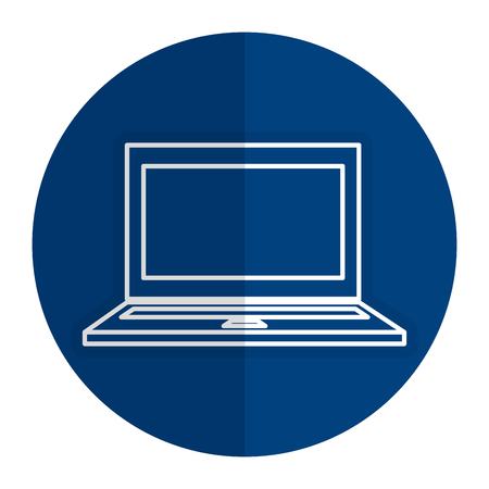computer laptop isolated icon vector illustration design Çizim