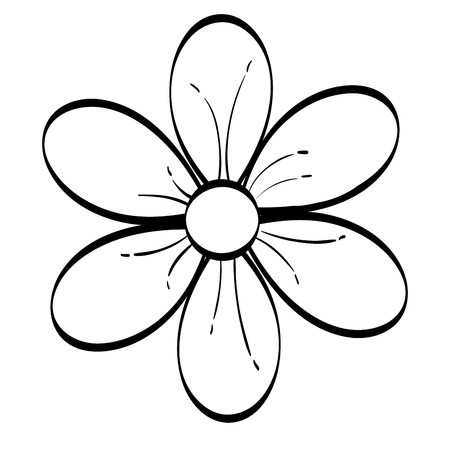 Fleur mignon icône décorative illustration vectorielle conception Banque d'images - 80375664