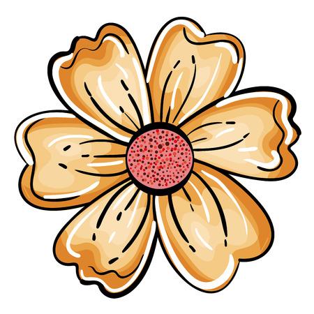 Fleur mignon icône décorative illustration vectorielle conception Banque d'images - 80375666