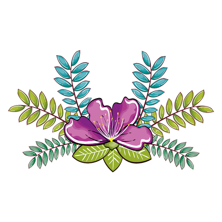 springtime: garden flowers decorative icon vector illustration design