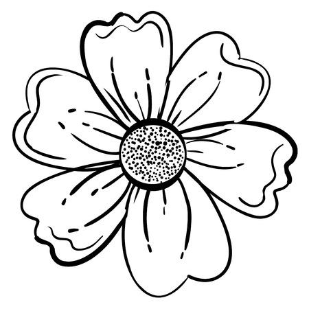 かわいい花装飾アイコン ベクトル イラスト デザイン