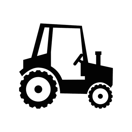Farm tractor vehicle icon vector illustration graphic design