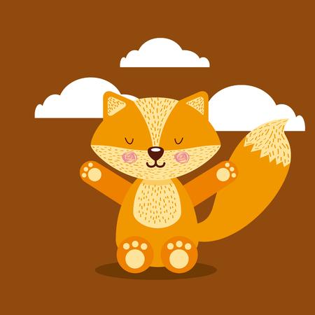 cute animal illustration icon vector design graphic Stock Vector - 80449009