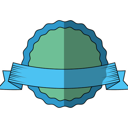 Award ribbon isolated icon vector illustration graphic design Illustration