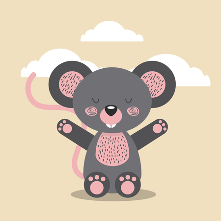 cute animal illustration icon vector design graphic Stock Vector - 80449235
