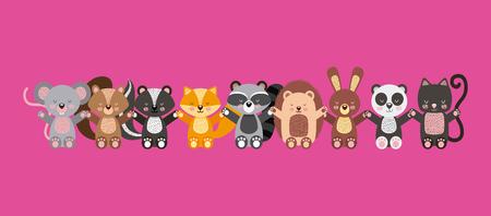 icon: cute animals illustration icon vector design graphic