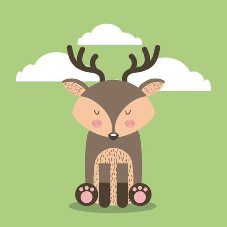 cute animal illustration icon vector design graphic Stock Vector - 80449271