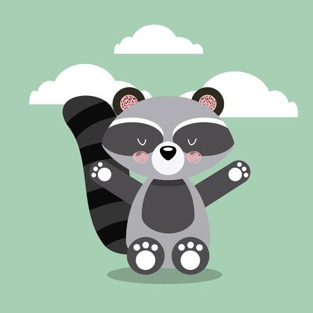 cute animal illustration icon vector design graphic Stock Vector - 80449277