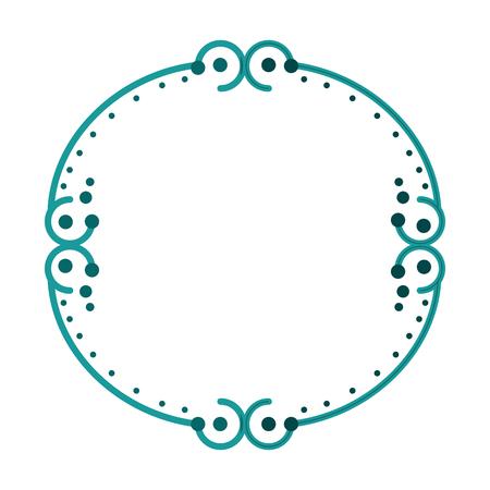 装飾的なビンテージ フレーム アイコン ベクトル イラスト グラフィック デザイン