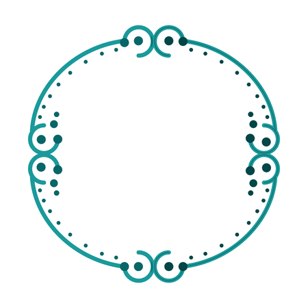 Decorative vintage frame icon vector illustration graphic design