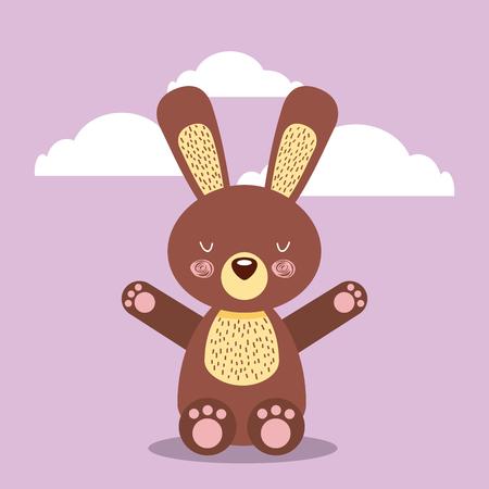cute animal illustration icon vector design graphic