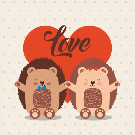 love animals illustration icon vector design graphic