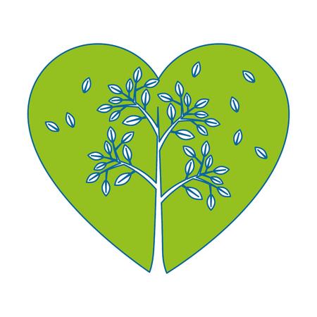 Plant met bladeren pictogram vector illustratie grafisch ontwerp Stock Illustratie