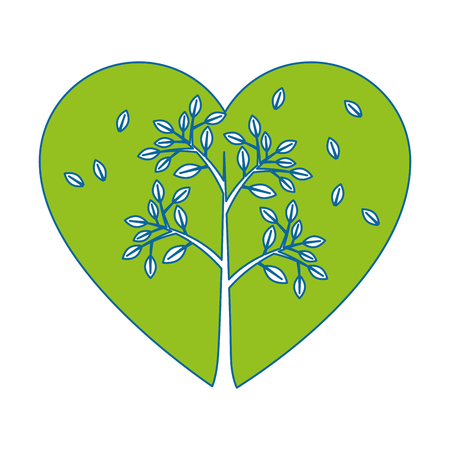 passion  ecology: Plant with leaves icon vector illustration graphic design Illustration