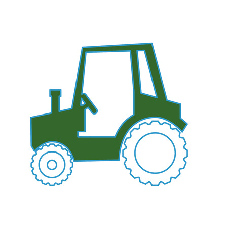 ファーム トラクター車両アイコン ベクトル イラスト グラフィック デザイン