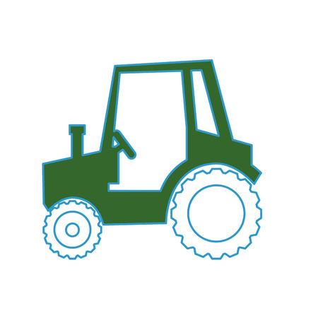 Diseño gráfico del ejemplo del vector del icono del vehículo del tractor de granja Foto de archivo - 80450536