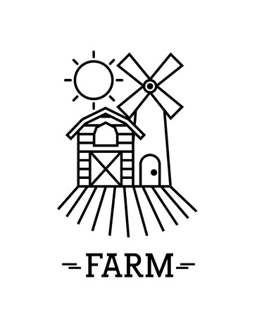 farm circle background flat icon vector illustration design graphic