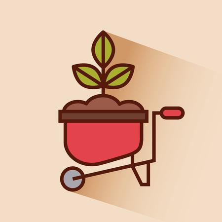farm tool flat icon vector illustration design graphic Ilustração