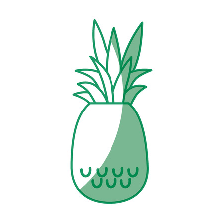 market gardening: Delicious pineapple fruit icon vector illustration graphic design