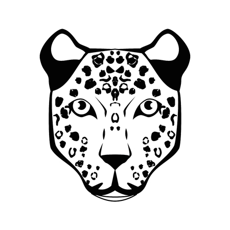 threatened: Wild animal jaguar icon vector illustration graphic design