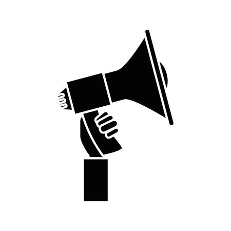Bullhorn advertising symbol icon vector illustration graphic design