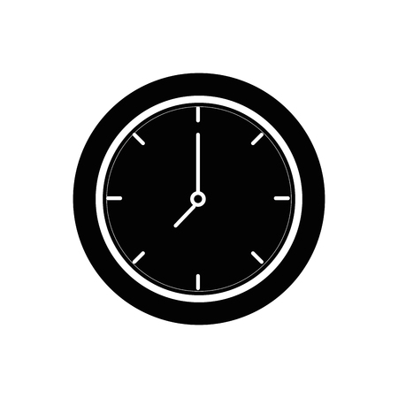 Wall clock symbol icon vector illustration graphic design