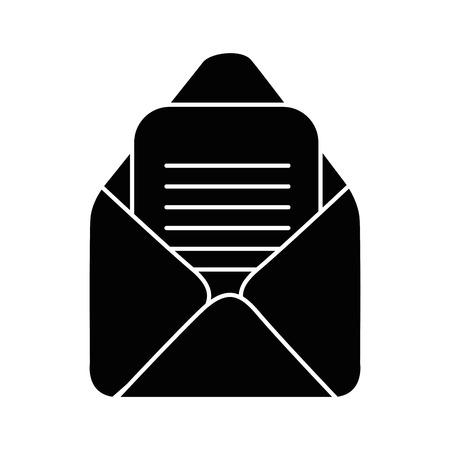 E-mail geïsoleerd symbool pictogram vector illustratie grafisch ontwerp