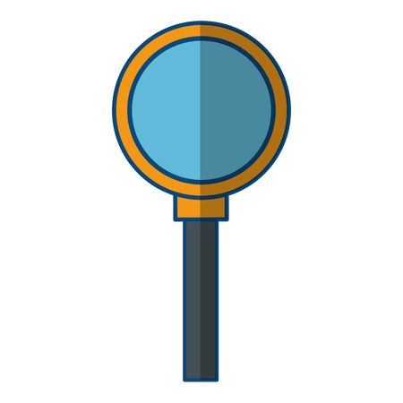 Magnifying glass lupe icon vector illustration graphic design Stock Vector - 80451281
