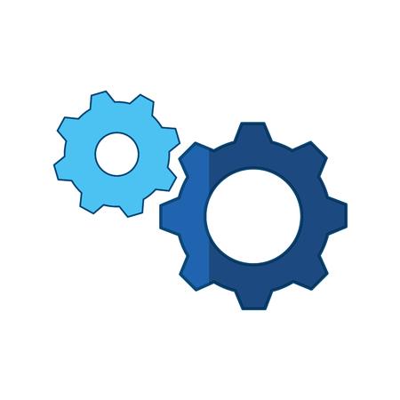 Gears machinery piece icon vector illustration graphic design 向量圖像