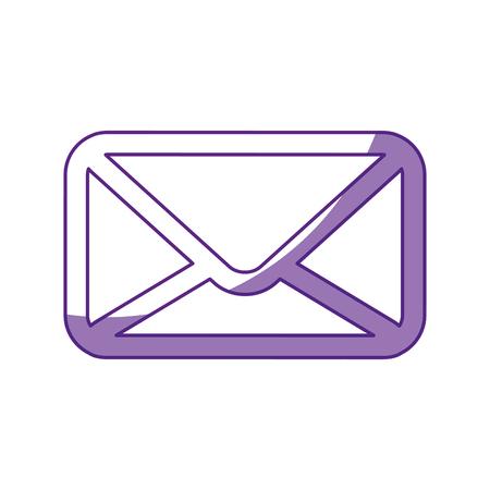 分離記号アイコン ベクトル イラスト グラフィック デザインをメールで送信します。  イラスト・ベクター素材