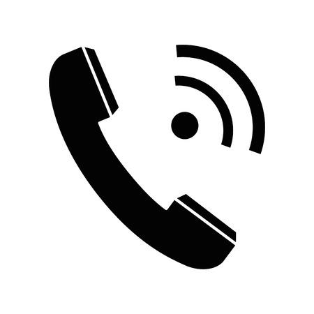 전화 절연 기호 아이콘 벡터 일러스트 그래픽 디자인