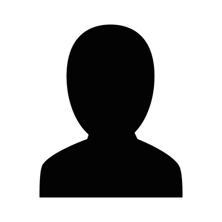 Man profile silhouette icon vector illustration graphic design