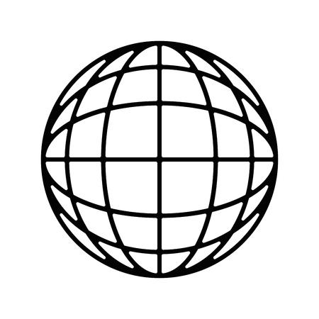 Sphere global symbol icon vector illustration graphic design