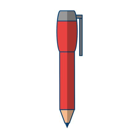 사무실 펜 격리 아이콘 벡터 일러스트 그래픽 디자인