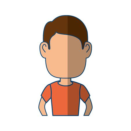 Guy cartoon profile icon vector illustration graphic design Illustration