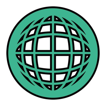 Diseño gráfico del ejemplo del vector del icono del símbolo de la esfera global Foto de archivo - 80451690