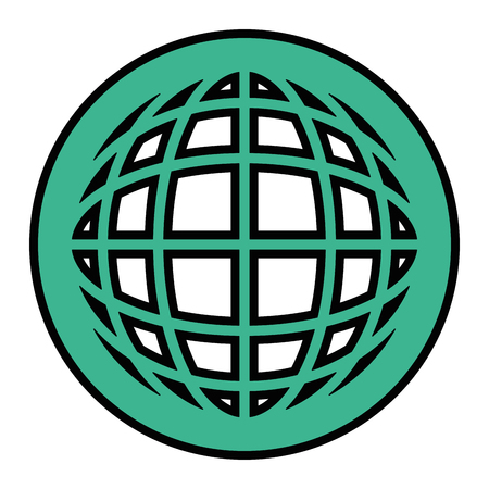 Sphere global symbol icon vector illustration graphic design