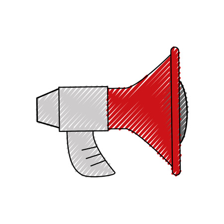loud speaker: Bullhorn advertising symbol icon vector illustration graphic design