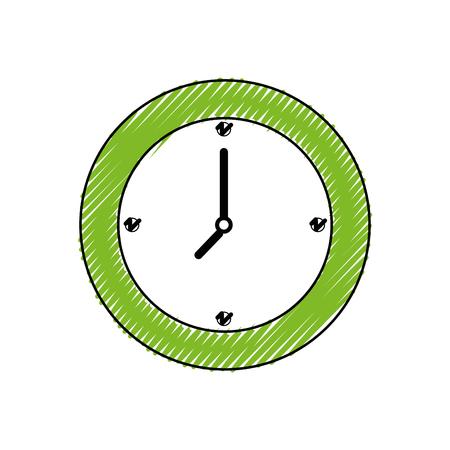 Wall clock symbol icon vector illustration graphic design