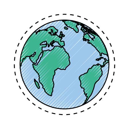Diseño gráfico del ejemplo del vector del icono del símbolo de la esfera global Foto de archivo - 80451262