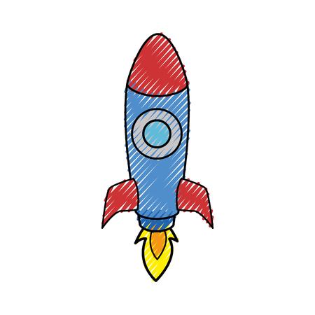 Rocket spaceship symbol icon vector illustration graphic design