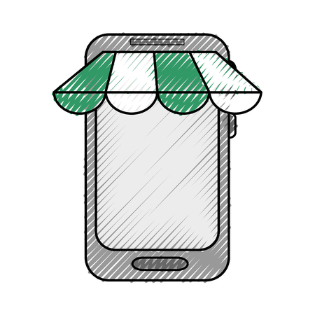 Mobile smartphone technology icon vector illustration graphic design Çizim