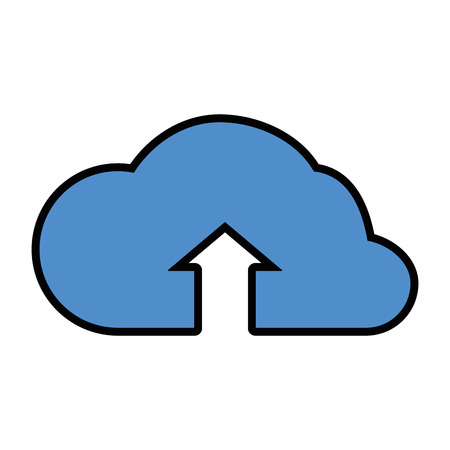 Cloud computing upload icon vector illustration graphic design