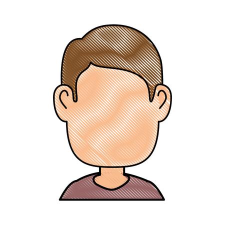 funny pictures: Guy cartoon profile icon vector illustration graphic design Illustration