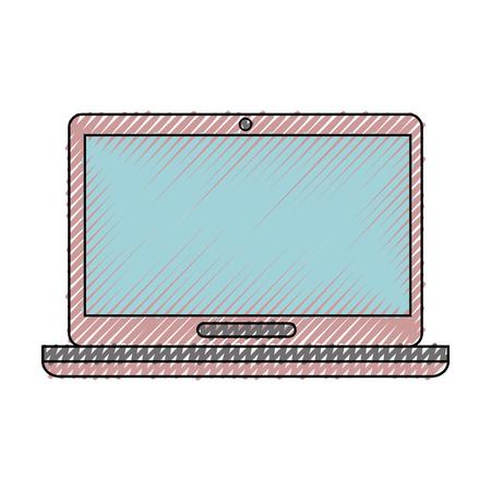 Laptop pc computer icon vector illustration graphic design Illustration